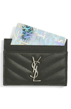 Saint Laurent monogram credit  card holder @nordstrom.com