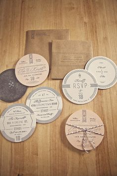 Letters + cards / Goncharows Coaster Wedding Invites — Designspiration