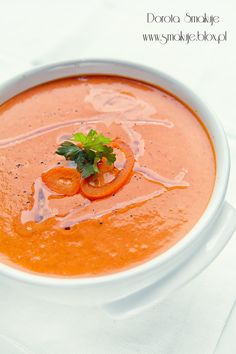 Chłodnik paprykowy Cooking Classes, Soups And Stews, Thai Red Curry, Ethnic Recipes, Food, Essen, Meals, Yemek, Eten