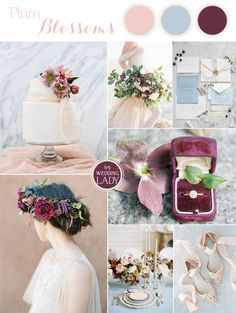 Fresh Spring Wedding Colors in Plum and Powder Blue