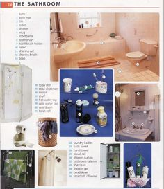 English vocabuary - Bathroom Better English, English Fun, English Words, English Grammar, Teaching English, Learn English, English Language, English Picture Dictionary, Photo Dictionary
