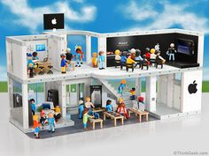 I really wish it wasn't April Fool's day today so I could purchase this PLAYMOBIL Apple Store from thinkgeek.com