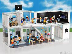 Playmobil Apple Store, met veel details, Iphones, Ipads en zelfs Steve Jobs!