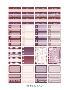 Printable SPARKLING POWDER Planner Stickers for the Erin Condren Life Planner…