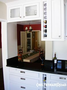 This built-in #wine storage rack is just begging to be filled!