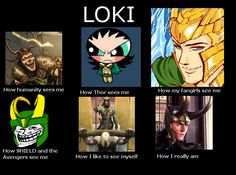 In which I actually approve of one of these memes. The many faces of Loki.