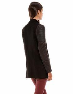 Bershka Croatia - Bershka combined fabric coat