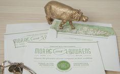 Letterpress Wedding Invitation. victoriawigzelldesign.co.nz