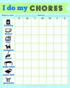 Chore Charts For 6 Year Olds - Yahoo Image Search Results