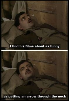 Blackadder Series 4 - Blackadder Goes Forth British Comedy Series, British Tv Comedies, Comedy Tv, Comedy Show, Blackadder Quotes, Fawlty Towers, Only Fools And Horses, Keeping Up Appearances, Red Dwarf