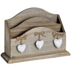 Wooden Letter Rack with Hearts: Amazon.co.uk: Kitchen & Home