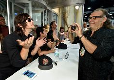 Actor Norman Reedus and producer/director Greg Nicotero attend AMC's 'The Walking Dead' at ComicCon 2015 on July 10 2015 in San Diego California Walking Bad, Walking Dead Season, Fear The Walking Dead, Daryl And Carol, Best Zombie, Steven Yeun, Stuff And Thangs, San Diego Comic Con, Daryl Dixon