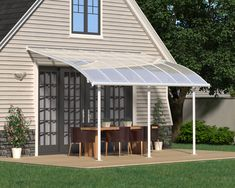 The Joya patio cover showcases a unique, aesthetic curved design along with a maintenance free and durable structure. It is simple to install and easily adjusted to fit your specific needs. Constructed of virtually unbreakable polycarbonate panels and an aluminum rust-free frame