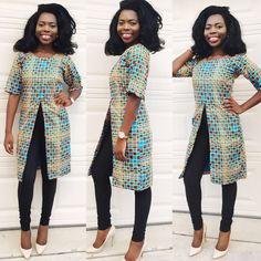 Africain ankara femmes genou longueur manches par Veroexshop