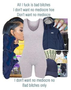 """""""No Mediocre x T.I. ft. Iggy Azalea"""" by juicyums ❤ liked on Polyvore featuring Helly Hansen and NIKE"""