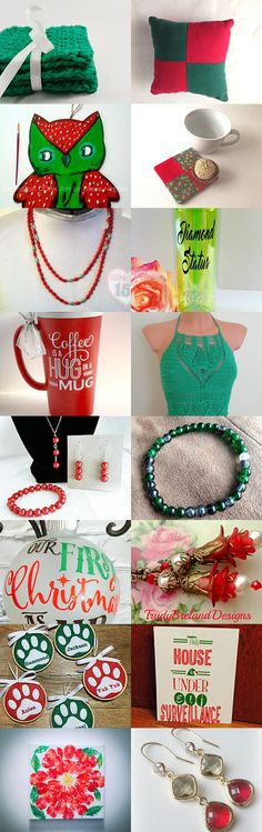 Green and red by Diane Negron on Etsy--Pinned+with+TreasuryPin.com