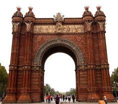 Skulptur Triumphbogen Barcelona Catalonia Spanien