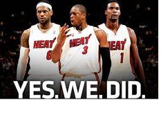 Miami Heat NBA Champs !!!