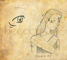 Desert Elf by beeccy.deviantart.com on @DeviantArt