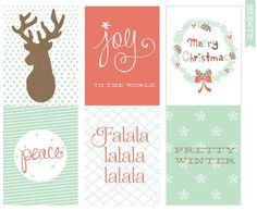 Free Christmas/Winter 4x3 Printables from falala designs: