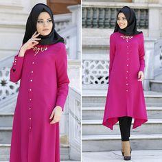 New Kenza - Tunic - 2825F #hijab #naylavip #hijabi #hijabfashion #hijabstyle #hijabpress #muslimabaya #islamiccoat #scarf #fashion #turkishdress #clothing #eveningdresses #dailydresses #tunic #vest #skirt #hijabtrends