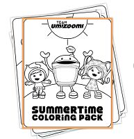 Free Umizoomi Summertime Coloring Pack