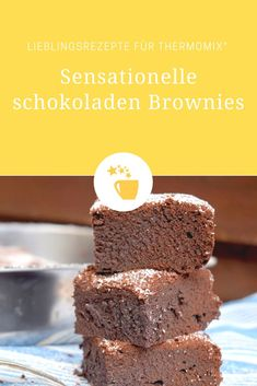 These delicious brownies from the Thermomix® do not just look good! They also convince with their chocolate taste. These delicious brownies from the Thermomix® do not just look good! They also convince with their chocolate taste. Diabetic Cake Recipes, Baby Food Recipes, Mexican Food Recipes, Health Desserts, Easy Desserts, Dessert Recipes, Best Brownie Recipe, Brownie Recipes, Beste Brownies