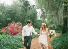 Green and White Organic Wedding on http://ruffledblog.com