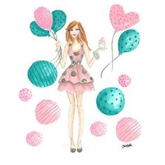 Fashion Illustration Print, Modern Holly