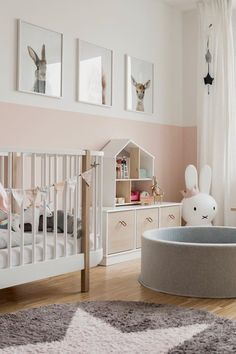 Pink and grey girl nursery. Pink and grey girl nursery. Pink and grey girl nursery. Pink and grey gi Baby Bedroom, Baby Boy Rooms, Baby Room Decor, Nursery Room, Kids Bedroom, Baby Room Grey, Baby Girl Nursery Pink And Grey, Nursery Decor, Babies Nursery