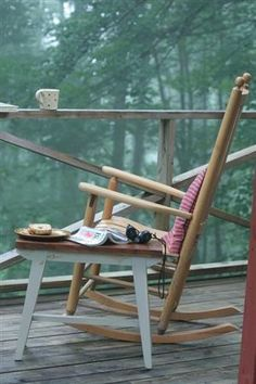 tranquility. view. book. tea. cake. what more could you want?