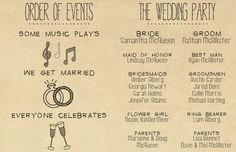 Wedding Program Printable Custom DIY Wedding by SplashOfSilver