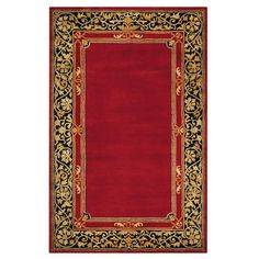 Churchill Red 2 ft. 6 in. x 4 ft. 6 in. Accent Rug
