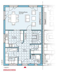 energiesparendes Doppelhaus 139- Individuelle Fertighäuser - Energiesparhäuser - Passivhäuser  interesting upstairs layout