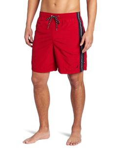 43% Off was $34.98, now is $19.95! Nautica Men`s Anchor Solid Stripe Swim Trunk