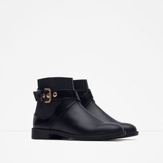 Image 2 of FLAT ANKLE BOOTS WITH BUCKLE from Zara
