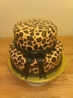 Leopard cake for my birthday!!