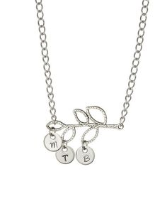 Love this Silver Branch Initial Pendant Necklace by Pebbles Jones on #zulily! Love this. Great Mother's jewelry :)