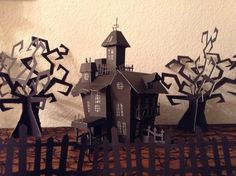 Haunted house from cricut happy hauntings