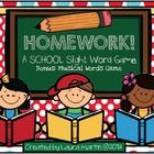 Looking for a festive way to practice sight words?? HOMEWORK May be your answer! My kiddos love to play this game! $3  HOMEWORK needs no teacher guida...