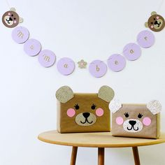"""Bears.  Sweet Paul Magazine on Instagram: """"A BEARY ADORABLE CRAFT PROJECT:  Use these sweet giftwrap and garland ideas to make the cutest gifts for mom, a new baby, a special kid, or…"""""""