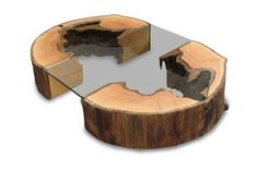Timber and glass coffe table