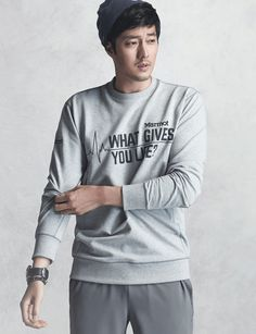 So Ji Sub is up for a rugged adventure this spring and summer, and he'll be working up a sweat in MARMOT's new outerwear collection. So Ji Sub, Korean Star, Korean Men, Asian Men, Asian Guys, Asian Actors, Korean Actors, Hot Actors, Actors & Actresses