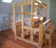Cranbrook Loom built by Norwood.  This is my second favorite loom in my stable of looms in my studio!  My loom also has a shaft switching device - love it!