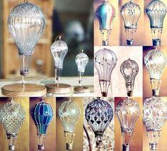lightbulb hot air balloons
