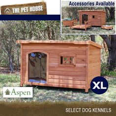 Flat Roof Dog House Plans   Flat Roof Dog House  D     Dog    NEW Aspen Extra Large Flat Roof Wooden Dog House Wood Timber XL Kennel