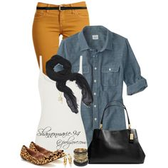 """""""Fall Fashion in Denim"""" by shannonmarie-94 on Polyvore"""