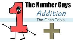 The Number Guys: Addition - The Ones Table - The Kids' Picture Show (Fun & Educational) Math Class, Kindergarten Math, Fun Math, First Grade Homework, 1st Grade Worksheets, Fun Learning, Picture Show, Elementary Schools, Improve Yourself
