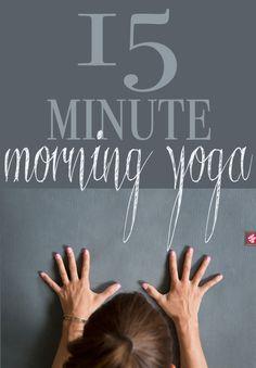 15 Minute Morning Yoga!