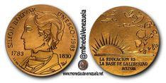 Medalla Oficial de la Unesco Conmemorativa del Bicentenario del Nacimiento de El Libertador
